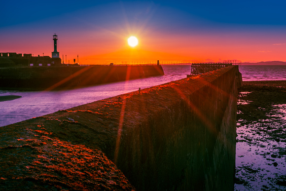 Maryport Harbour at Sunset