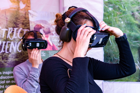 Two users experience virtual reality