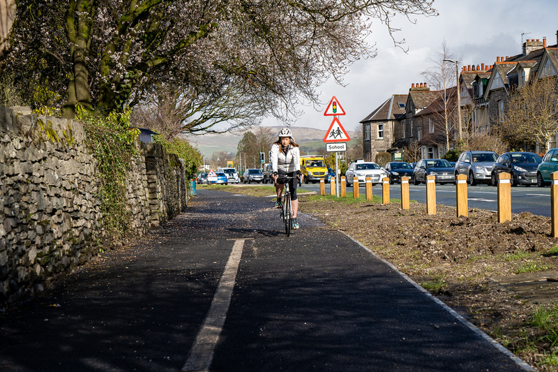 A slightly reluctant cyclist on the A6 cycleway