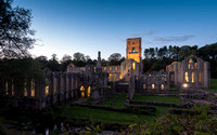 Fountains Abbey in Twilight