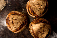 R Gill, Food Photographer, 3 Chilli Sourdough bread loaves