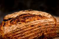 Close up of the crust of a bread loaf