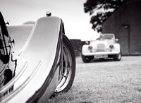 R Gill, Commercial Photographer, Two Morgan cars